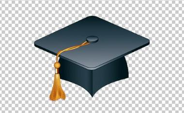 Клипарт шапка магистра (выпускника), для Фотошоп в PSD и PNG, без фона