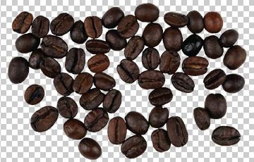 Клипарт зерна кофе, для Фотошоп в PSD и PNG, без фона