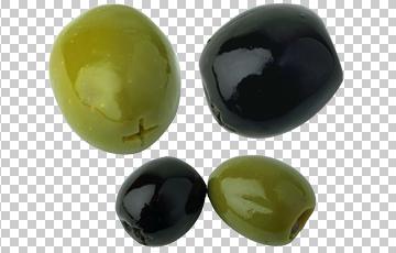 Клипарт маслины, для Фотошоп в PSD и PNG, без фона