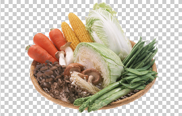 Клипарт овощи на блюде, для Фотошоп в PSD и PNG, без фона