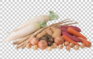 Клипарт овощи, для Фотошоп в PSD и PNG, без фона