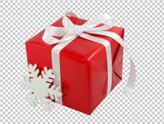 Клипарт новогодний подарок, в PNG и PSD, без фона