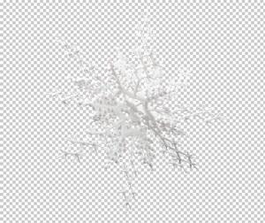 Клипарт снежинка, в PNG и PSD, без фона