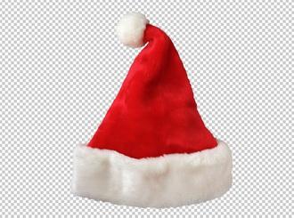 новогодняя шапка, PNG без фона PSD