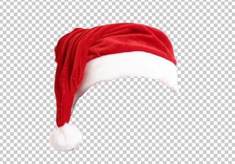 шапка Деда Мороза, PNG без фона PSD