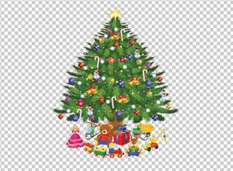 елка на новый год, PNG без фона