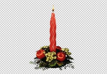 рождественская свеча, PNG без фона PSD