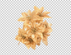 Клипарт цветы на новый год, в PNG и PSD, без фона